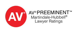 Martindale Hubbell A/V Rated Law Firm