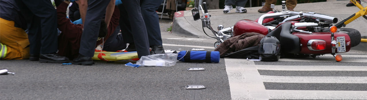 Motorcycle injury from an accident with a automobile